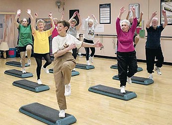 Gentle low impact exercises carefully designed to accomidate the needs of older adults.